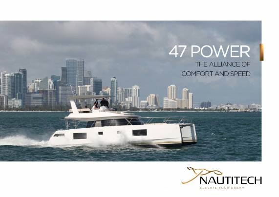 Download the Nautitech 47 Power brochure from Clipper Marine