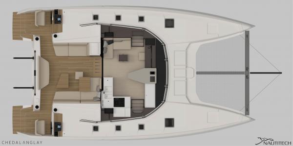Nautitech 44 Offen - Salon-Cockpit