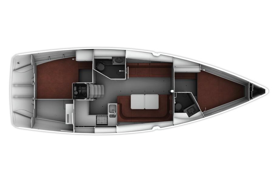 Bavaria Cruiser 41 - Diseño 1