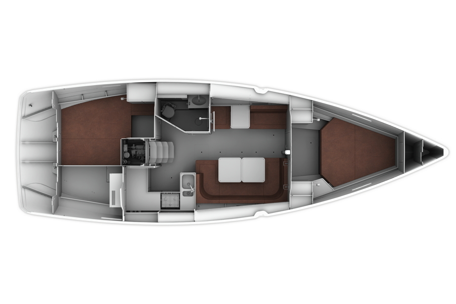 Bavaria Cruiser 41 - Layout 2