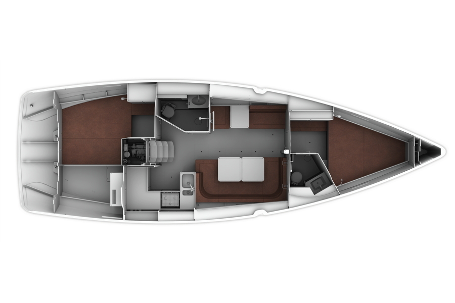 Bavaria Cruiser 41 - Layout 3