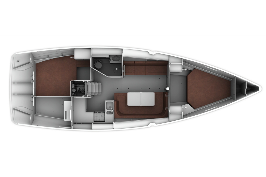 Bavaria Cruiser 41 - Layout 4