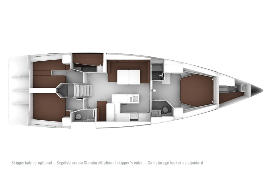 Bavaria Cruiser 56 - Layout 2