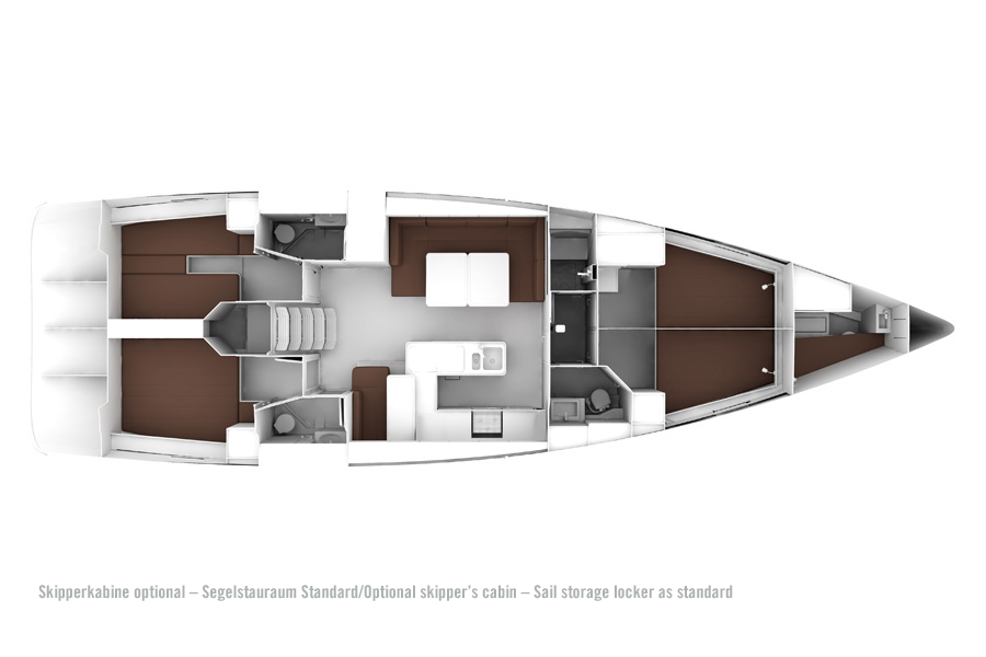 Bavaria Cruiser 56 - Layout 3