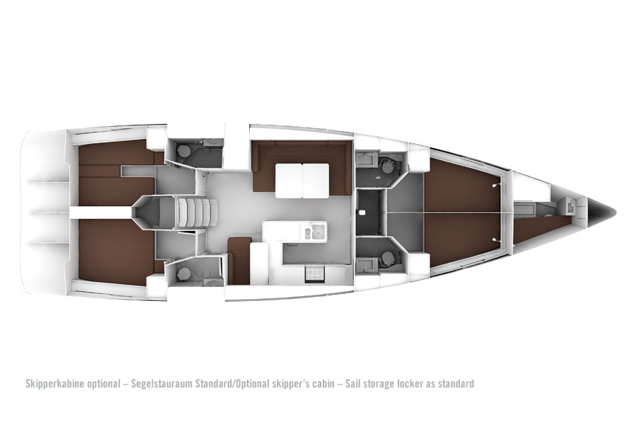 Bavaria Cruiser 56 - Layout 4
