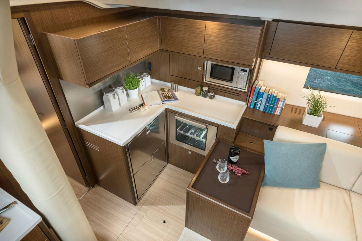 2020 Bavaria C57 and the galley continues - brochure photo