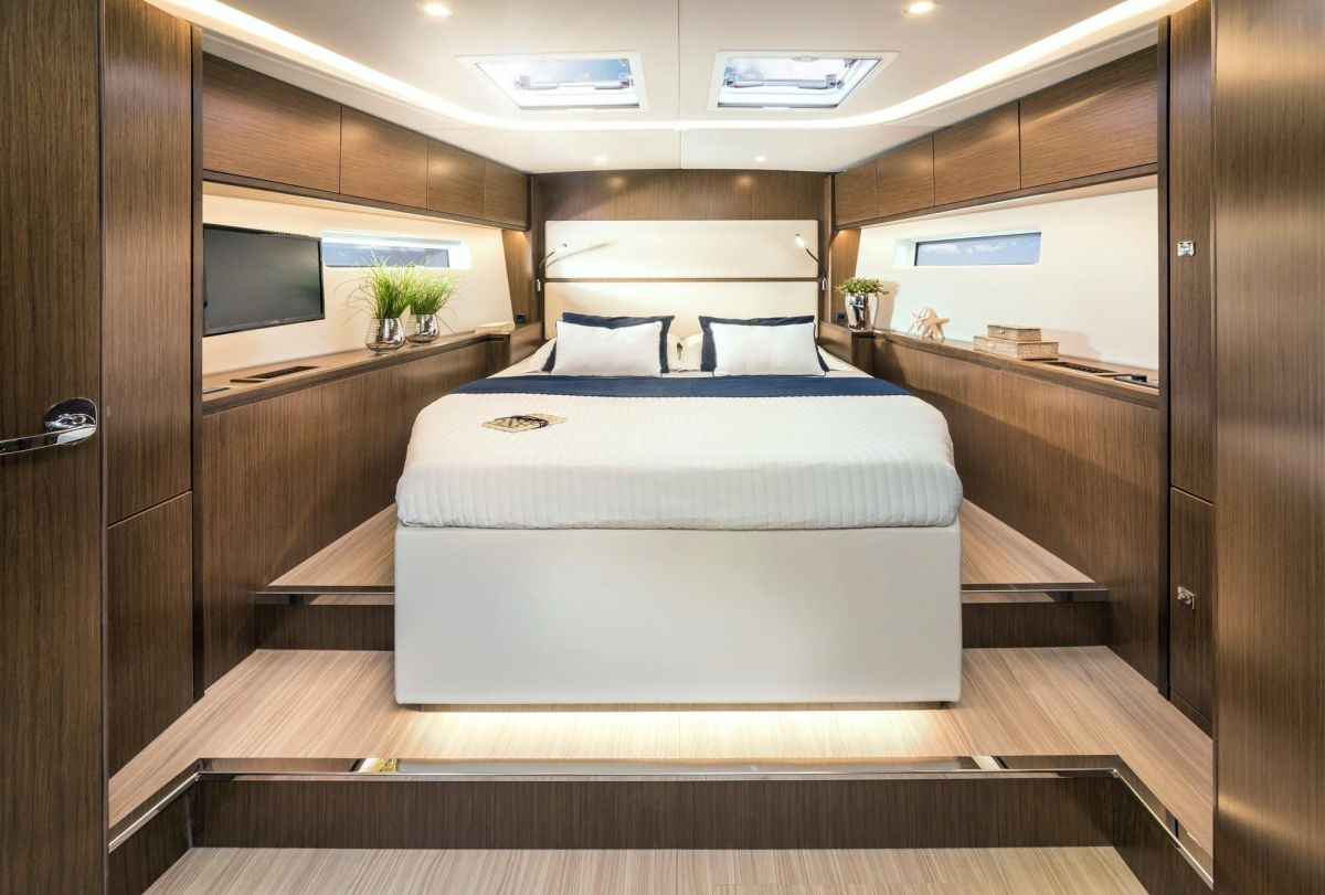 2020 Bavaria C57 Its time to enjoy - King size owners bed - brochure photo