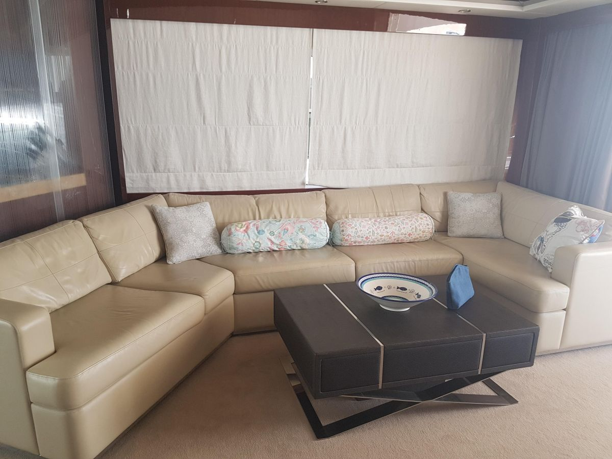 2013 Princess 72 Motor Yacht Leather upholstery