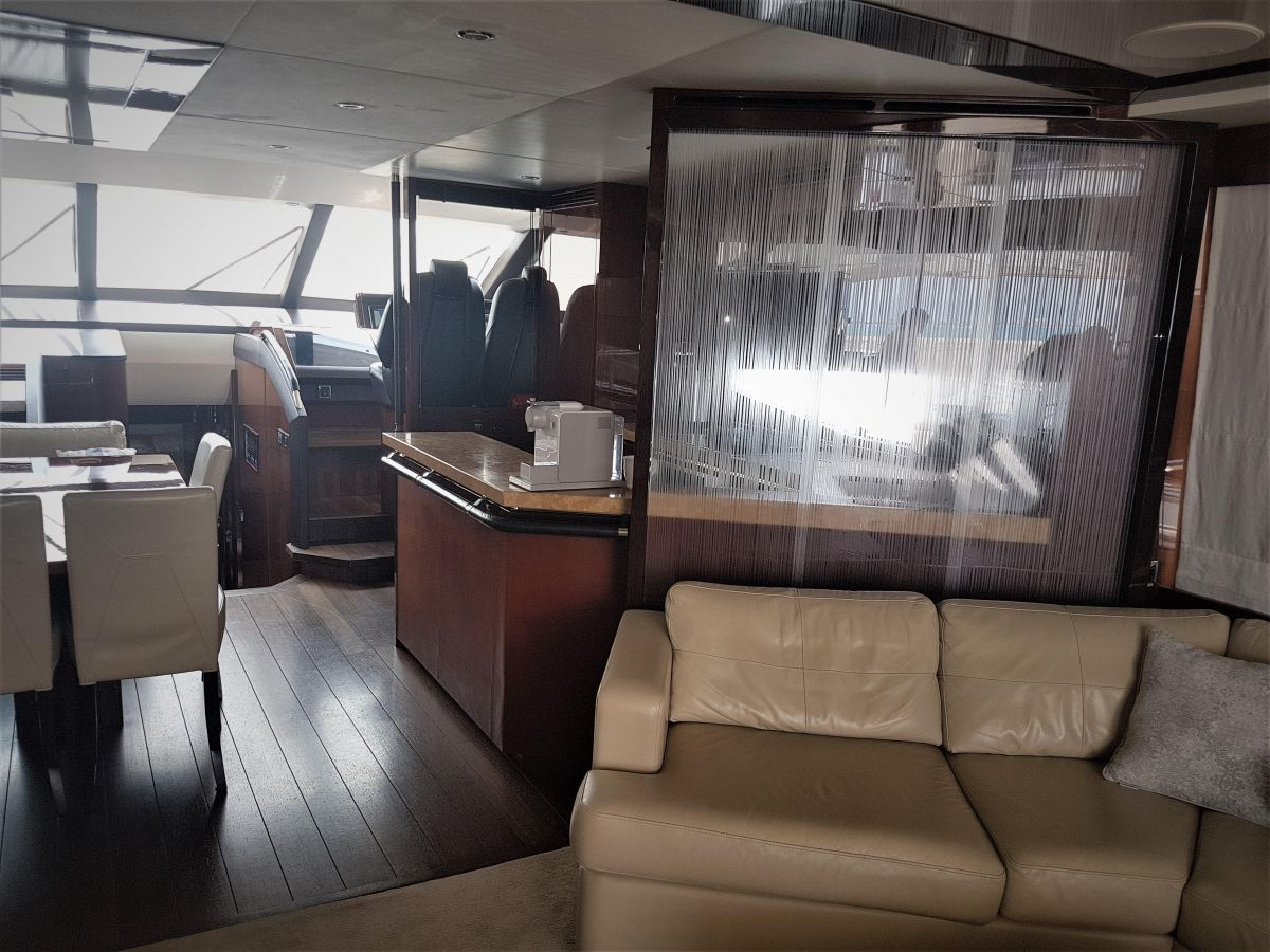 2013 Princess 72 Motor Yacht Spacious living room