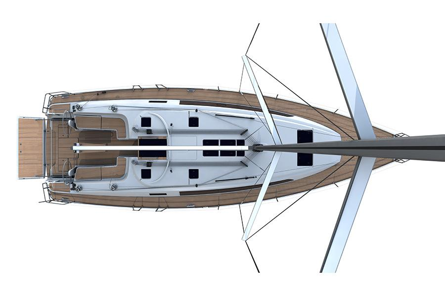 Bavaria Cruiser 46 - deck plan
