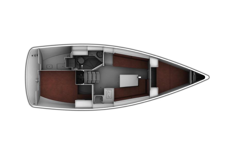 Obraz dostarczony przez producenta: Bavaria Prosty plan rozmieszczenia 9.7