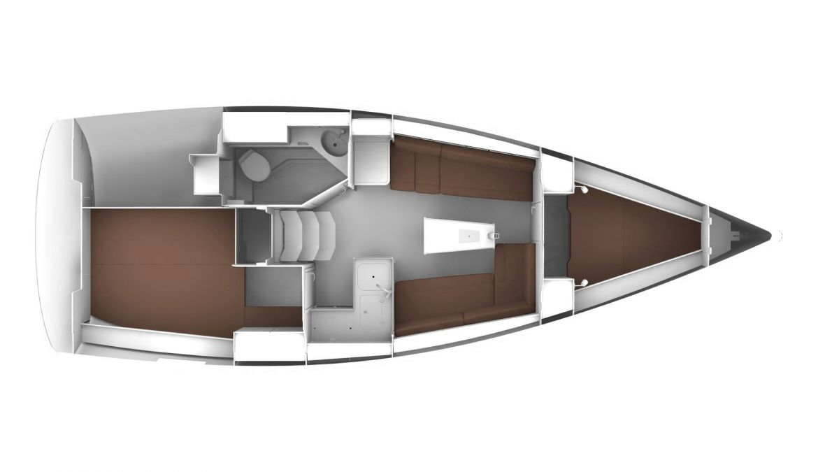 2020 Bavaria Cruiser 34 Layout