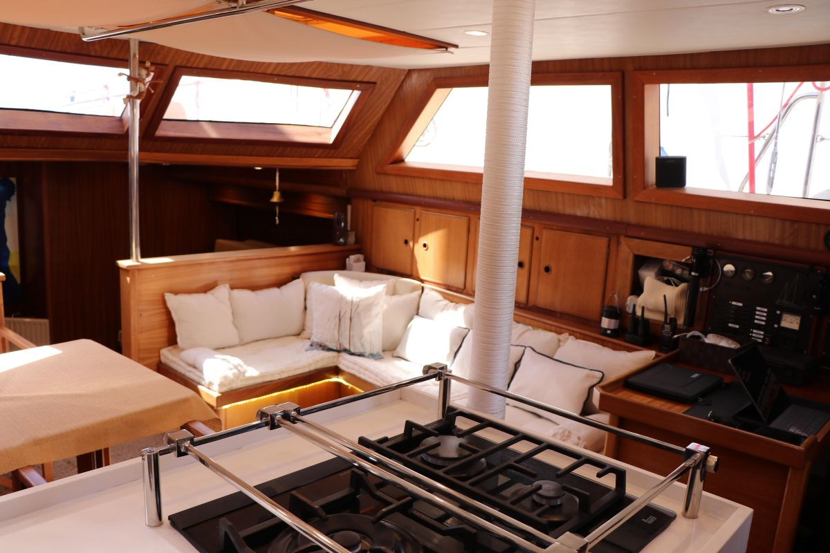 1978 Bugari 72 View from Galley