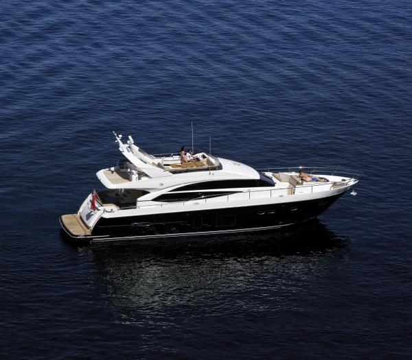 2013 Princess 72 Motor Yacht Manufacturer Provided Image: Princess 72 Motor Yacht Side View