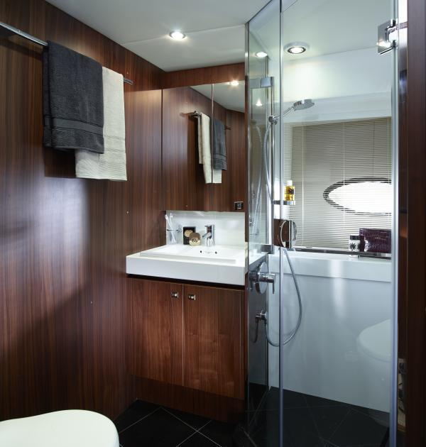 2013 Princess 72 Motor Yacht Manufacturer Provided Image: Princess 72 Motor Yacht Starboard Bathroom