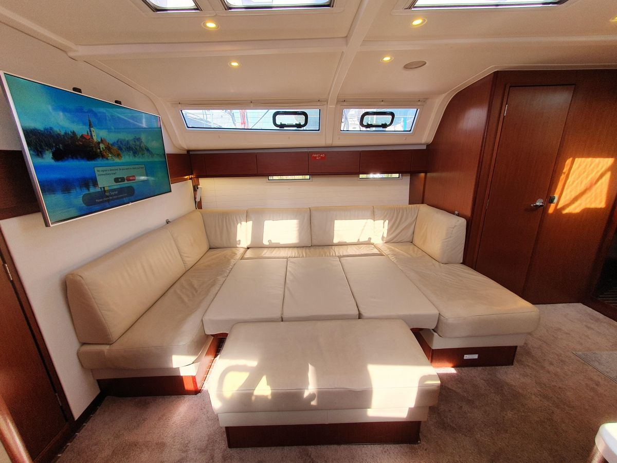2017 Bavaria Cruiser 51 Style Saloon bed conversion in situ