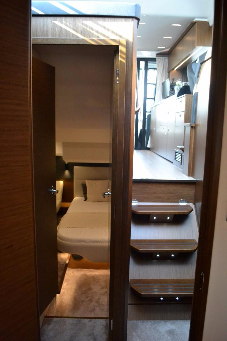 2018 Bavaria R40 Fly Looking back towards steps and master cabin of similar vessel