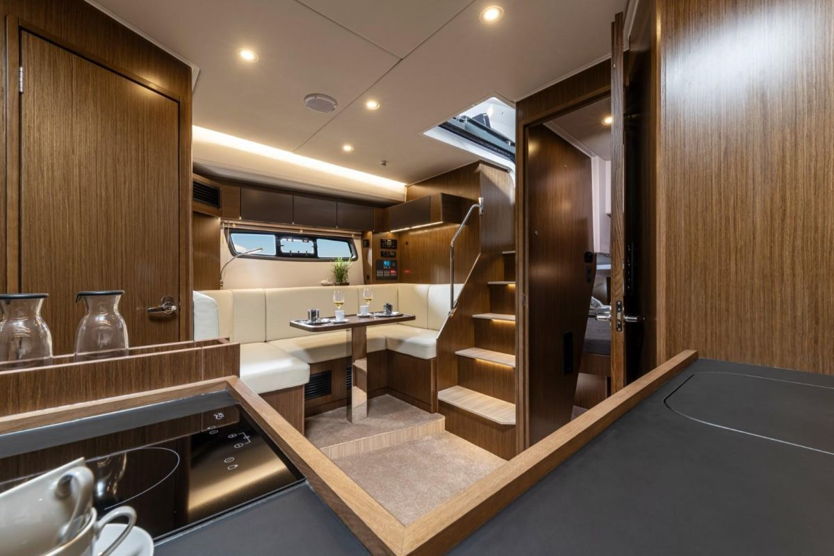 2021 Bavaria SR41 HT Lounge - view from Galley