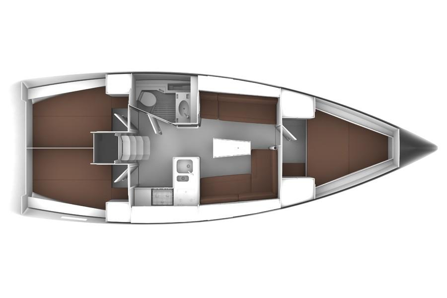 2014 Bavaria Cruiser 37 3 cabin layout