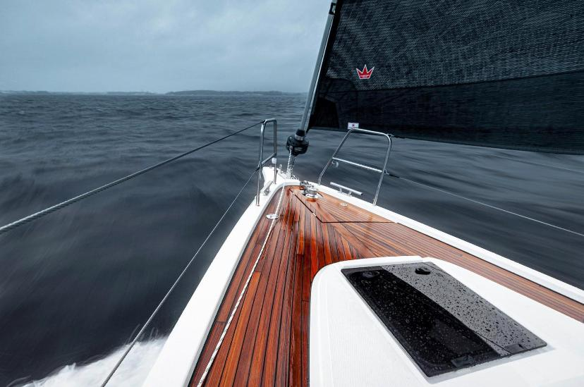 2021 Bavaria C38 On the water