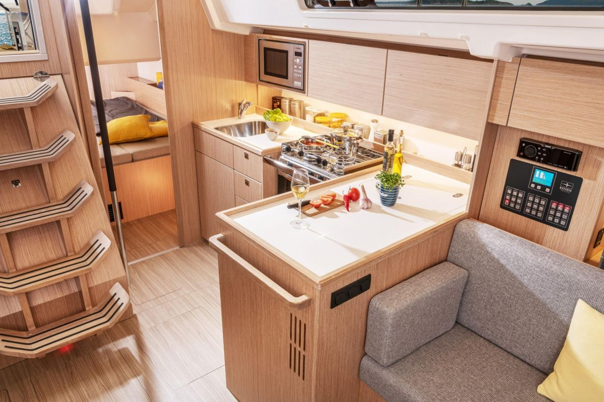 2021 Bavaria C38 Galley - shooting - actual boat