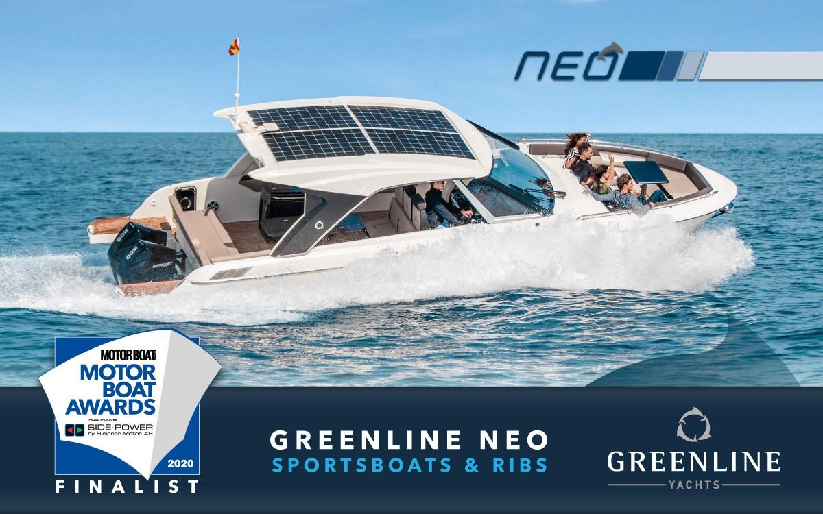 2019 Greenline Neo HT Finalist in the 2020 Motor Boat Awards