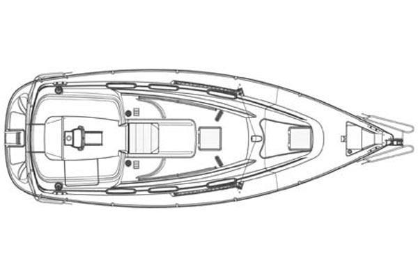Bavaria 30 Cruiser - Plan pokładu